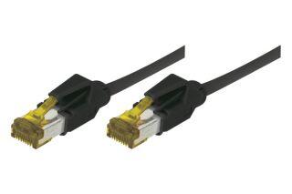 Cordon RJ45 sur câble catégorie 7 S/FTP LSOH snagless noir - 0,5 m
