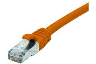 Cordon RJ45 catégorie 6A F/UTP LSOH snagless orange - 1 m