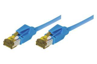 CORDON PATCH RJ45 S/FTP CAT 6a LSOH Snagless Bleu - 0,30 m