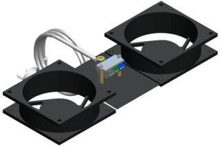 EFIRACK Kit 2 ventilateurs pour baie