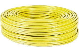 Câble multibrin F/UTP CAT6A LS0H jaune - 100 m
