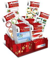 HERMA Etiquettes pour cadeau de Noel, présentoir de comptoir