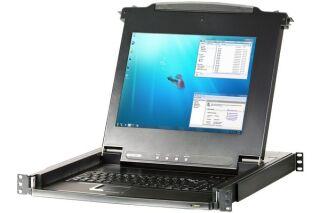 "Aten CL1016M console KVM LCD 17"" mono rail 16P VGA/PS2-USB"
