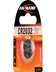 Pile bouton Lithium CR2032 Blister - Ansmann
