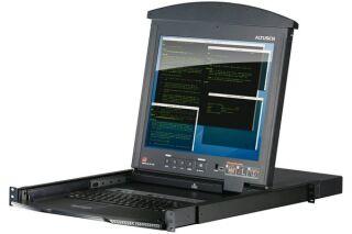 "Aten KL1508AN Console LCD 19"" double rail & KVM 8 ports Cat5"