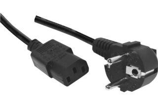 Cordon électrique secteur standard -noir 0,60m