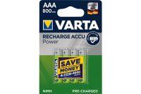 Batterie HR03 aaa 800mAh longlife blister de 4