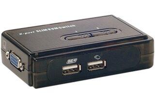 Pocket switch KVM VGA/USB 2 Ports avec cables