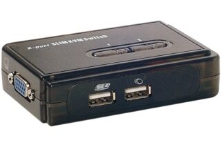 Pocket switch KVM VGA/USB 2 Ports avec cables