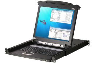 Aten CL1008M console LCD 17' simple rail KVM 8 ports VGA/USB-PS2