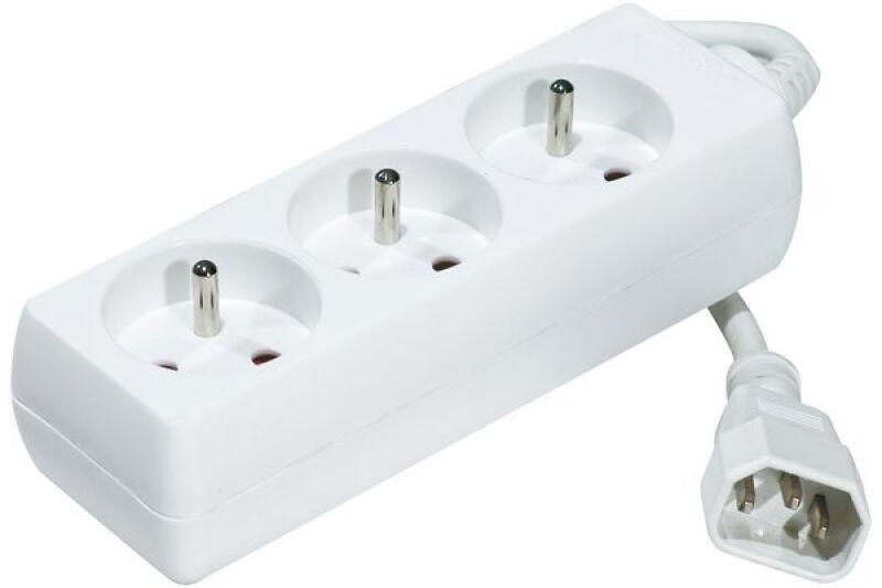 multiprise onduleur 3 prises cordon iec c14 blanche 1 5 m achat vente mdc 808510. Black Bedroom Furniture Sets. Home Design Ideas