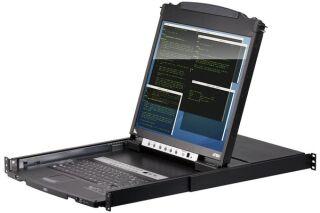 "ATEN CL5808N Console LCD 19"" Dual Rail KVM 8 Ports VGA/USB-PS2"