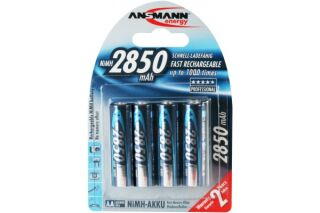 Piles recharg. LR06 AA Ni-Mh 2850 mAh x 4