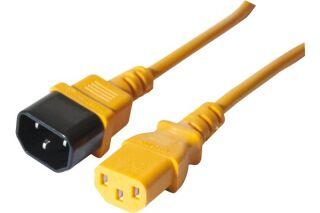 Rallonge électrique secteur moniteur/onduleur - orange 0,6 m