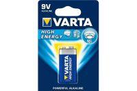 VARTA Piles alcalines 4922121411 6LR61 / E blister de 1