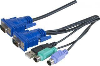 cordon combo kvm VGA/PS2+USB - 5,0m