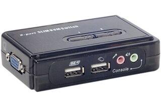 Pocket KVM  2 ports USB + AUDIO auto alimenté câble inclus