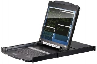 "ATEN CL5816N Console LCD 19"" Dual Rail KVM 16 Ports VGA/USB-PS2"