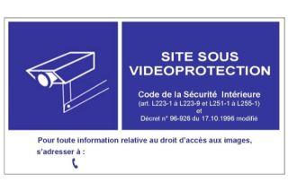 Panneau pvc 15x21 signalisation videosurveillance mural