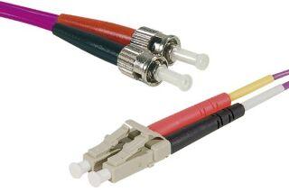 Jarretière optique duplex multimode OM4 50/125 LC-UPC/ST-UPC erika - 10 m