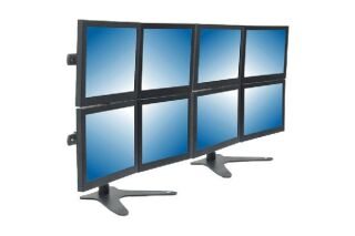 "Support 8 écrans lcd horiz.+vertical 19"" -Anthracite 53833"