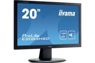Ecran LED IIYAMA E2083HSD-B1 16/9 5ms VGA-DVI Haut-Par. 20''
