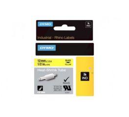 Ruban thermoretractable noir sur jaune 12MM pour rhinopro