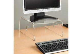 Support en Acrylique pour écran CRT (< 40 Kgs) et clavier