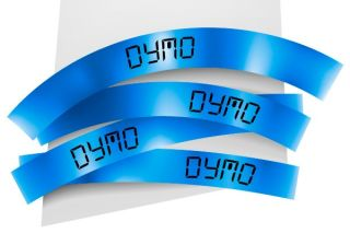 Ruban 12MM noir sur bleu pour LP150/250-LM350/450/210D/220P