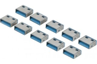 Lot de 10 bouchon-cadenas USB type A