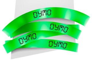 Ruban plastique dymo noir/vert 12MM pour letratag