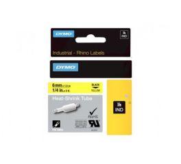 Ruban thermoretractable noir sur jaune 6MM pour rhinopro