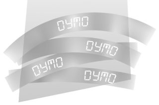 Ruban 12MM blanc sur trans pour LP150/250-LM350/450/200/250