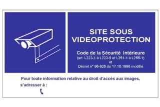 Panneau en PVC pour vitrine de signalisation d'une vidéosurveillance