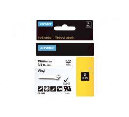 Ruban vinyle noir/blanc 19MM x 5,5M pour rhinopro