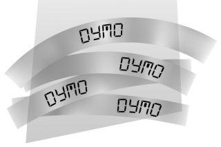 Ruban plastique dymo noir/transparent 12MM pour letratag