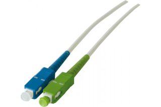 Cordon simplex fibre optique OS2 LS0H sc-apc/sc - 10,0 m