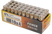Pile alcaline aaa-colisage de 40 piles en shrink de 4