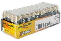 ANSMANN Piles alcalines industrielles 5015681 LR06 / AA 10 schrink de 4