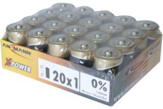 ANSMANN Piles alcalines industrielles 5015701 LR20 / D colisage de 20