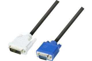 Cord.ecran dvi-a/vga HD15M Single Link-3 m
