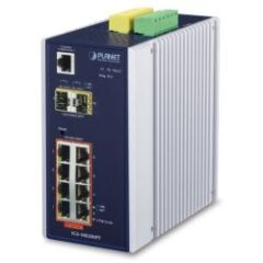 Switch indus man. IP30 8x Giga PoE+ 2 SFP -40/75°