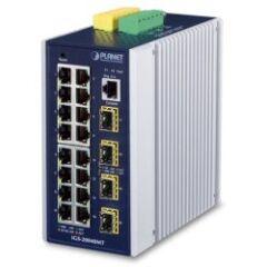 Switch indus 16ports Giga + 4SFP -40/75°C L2/3