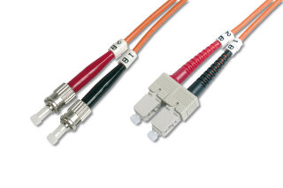 Câble OM2 à fibres optiques, connecteur ST - connecteur SC,