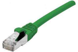 Cordon sur câble catégorie 7 S/FTP LSOH snagless vert - 10 m
