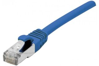 Cordon patch RJ45 s/ftp sur cable cat 7 LS0H bleu - 0,5 m