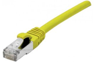 Cordon patch RJ45 s/ftp sur cable cat 7 LS0H jaune - 1,5 m