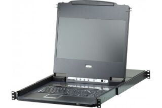 Aten CL6708MW console KVM LCD FullHD 8 ports DVI/USB/HP