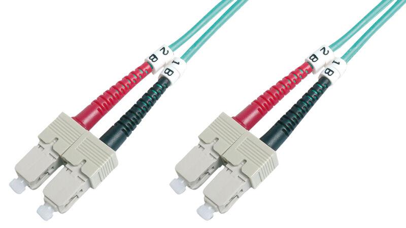 Câble à fibres optiques OM3 , connecteur SC - connecteur SC,