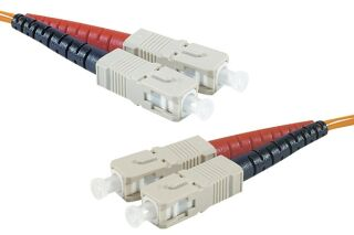 Jarretière optique duplex HD multi OM1 62,5/125 SC-UPC/SC-UPC orange - 1 m